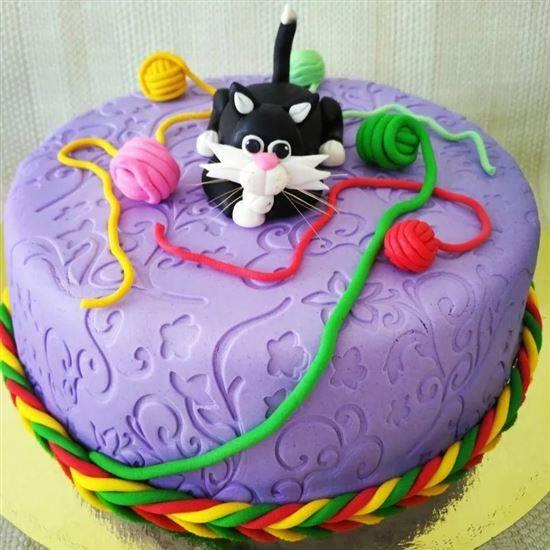 Торты в виде кошек с фото